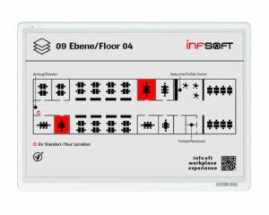 e-ink office floor plan