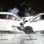 Localization of Vehicles in Crash Test Facilities