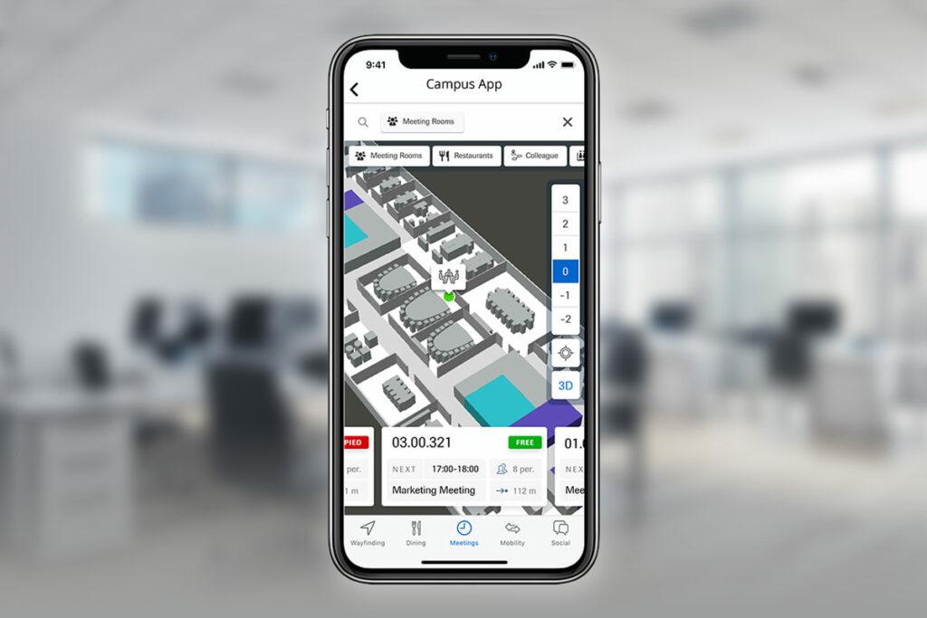 Press Release Infsoft Wayfinding Workplace App